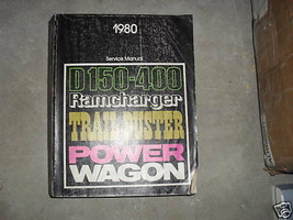 1980 Dodge Ramcharger Trailduster Truck Service Repair Shop Manual FACTO... - $57.37