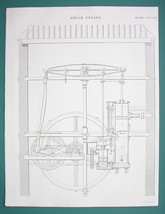 STEAM ENGINE Condensing McNaught Design Glasgow - 1840 Fine Quality Print - $13.77