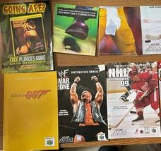 Nintendo 64 N64 Manual Instruction Booklet Lot Goldeneye Mario Kart 64 GameShark - $56.09