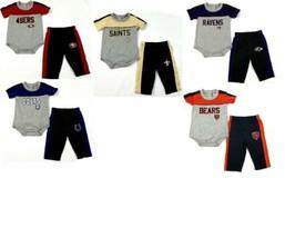 NFL Infant Boy's Horizon Pants Set 2-Piece Bodysuit Pant Football Baby NEW
