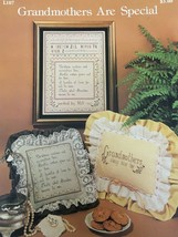 Grandmothers Are Special L107 Counted Cross Stitch Sampler Leaflet Pattern - $3.00