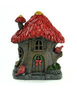 Fairy Garden Tree House, Red Leaf Roof House, Forest LED House, Birthday Gift - $20.99