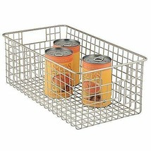 Wire Basket Organizer Foods Utility Deep Storage Pantry Household Suppli... - $40.67