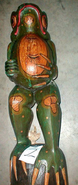 Frog Super Large Size Statue 39 inch with umbrella Hand carved in Bali image 6