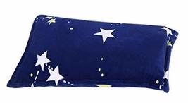 Single Autumn And Winter Thick Warm Pillowcase, Blue Bottom And Stars - €23,12 EUR