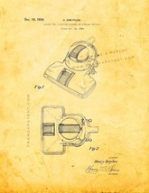 Vacuum Cleaner Patent Print - Golden Look - $7.95+