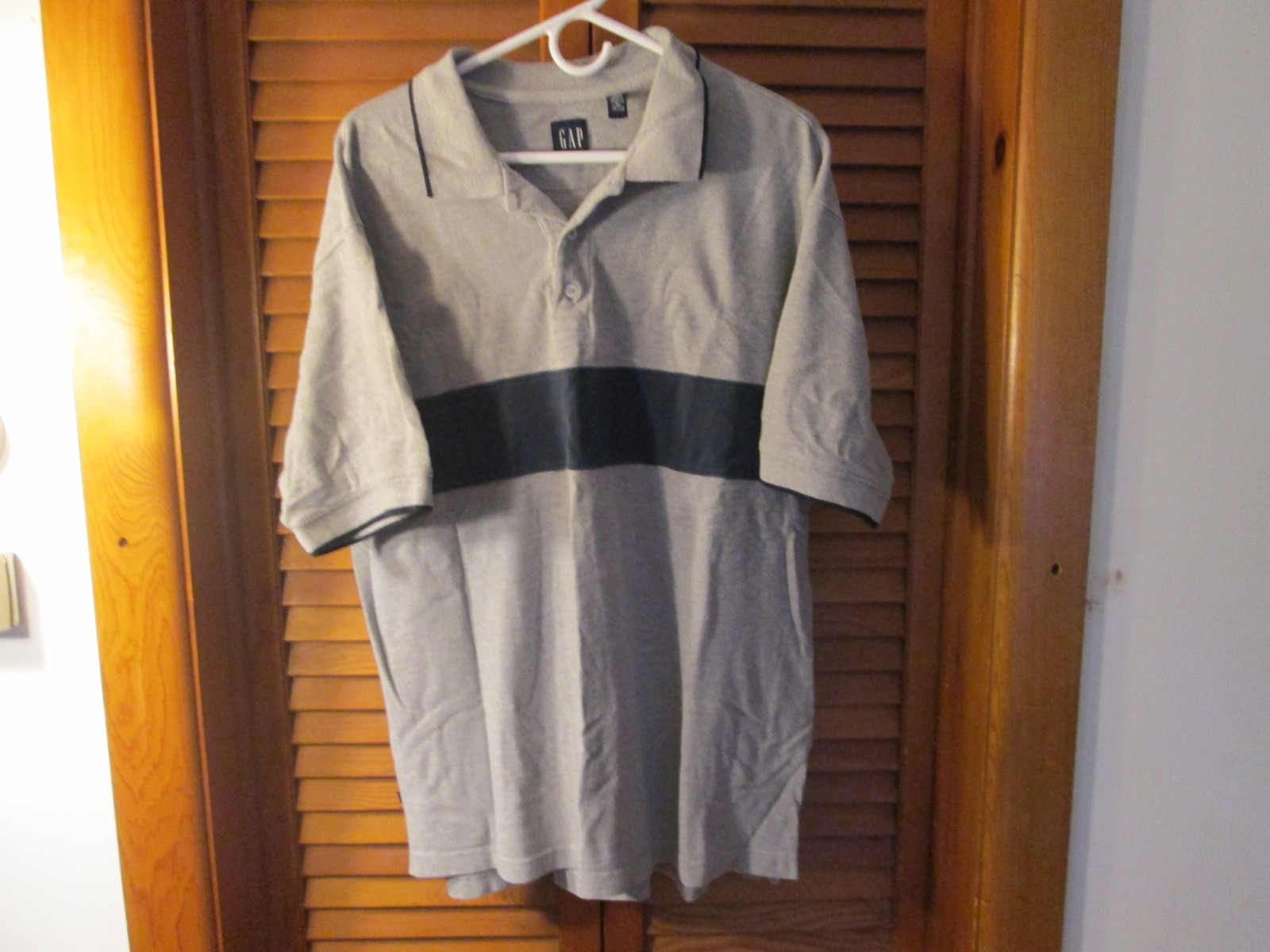 Mens Polo Shirt by GAP Color Gray Size L TF465/CJC