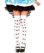 Alice in Wonderland Card Pattern Stocking Thigh High - $11.87