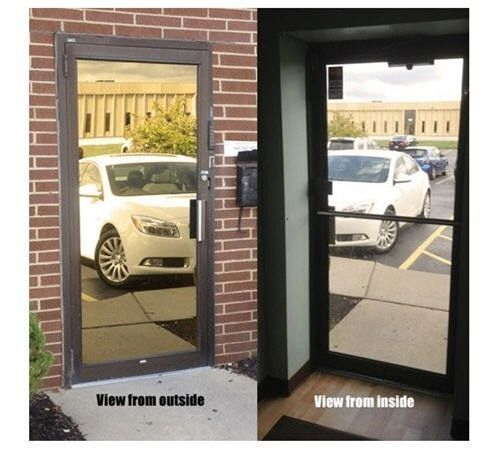 """Mirrored Gold Privacy Window Film, 30"""" x 50 ft - $215.58"""