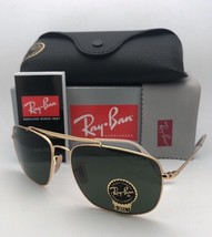 New RAY-BAN Sunglasses The Colonel Rb 3560 001 61-17 Gold Aviator w/ G-15 Green - $219.95