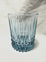 set of 4 FOSTORIA crystal Light Blue Double Old Fashioned Rock HERITAGE ... - $19.99