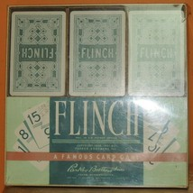 Vintage 1951 Flinch Card Game Parker Brothers 150 Cards w Box & Instructions - $20.69