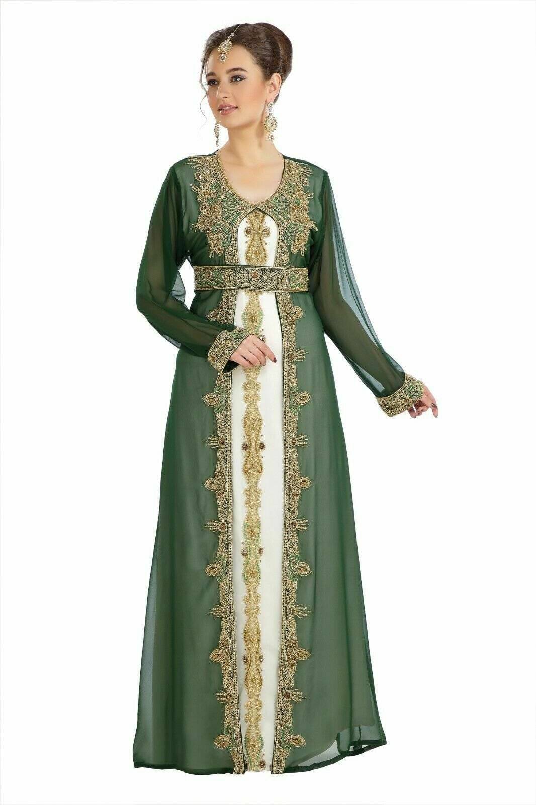 Primary image for Evening Long Maxi Gown Dubai Plus Size Beaded Kaftan African Abaya for Women
