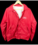 Vintage 1970s Dairy Queen DQ Red Employee lined windbreaker jacket Sz M USA - $43.65