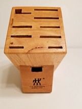 J.A. Henckels International 9-Slot Hardwood Knife Block Free Shipping - $29.45