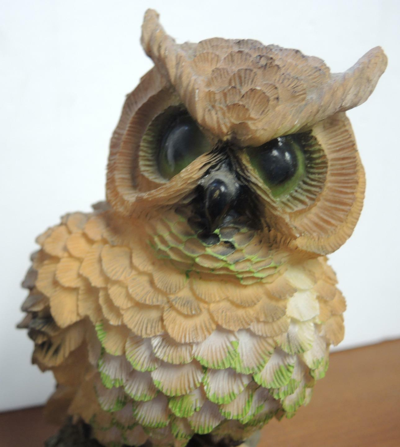 """Vintage 6 5/8"""" Tall Scholarly Owl Standing on Books"""