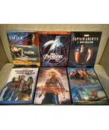 14 Marvel Movie DVD Avengers 1-4 Captain America Thor 1-3 Guardians Spid... - $69.97