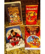 4 VhS CHILDREN'S VIDEO TAPES SEE PHOTOS FOR TITLES - $4.94