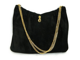 Black Suede w Gold Chain -  PRS15 - $28.95