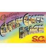 Greetings From Cherry Grove Beach, South Carolina - 1930's - Vintage Pos... - $11.99