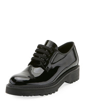 PRADA 35MM PATENT LEATHER LACEUP SHOES 38.5 MSRP: $620.00 - $420.75