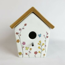 Bird House by Party Lite wax Melter candle white floral decorative 6in - $24.00