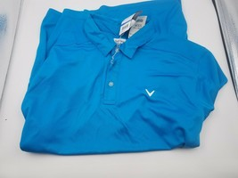 New Callaway Golf Men's Performance Stripe Polo Moisture Wicking Xl Nordic Blue - $34.64