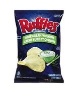2 Bags Ruffles Sour Cream & Onion Chips Size 220g From Canada FRESH & DE... - $24.90