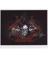 Avenged Sevenfold FULLY SIGNED Photo + COA Lifetime Guarantee - $224.99