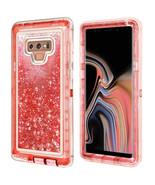 Samsung Galaxy Note 9 / N960 Tough Defender Sparkling Liquid Glitter Hea... - $14.99