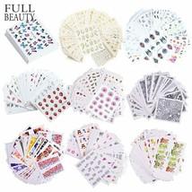 1 Set Mixed Design Nail Art Sticker Glitter Flower Water Decal Slider Manicure - $3.35
