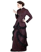 Steampunk Victorian Brocade Dinner Dress (large) - $229.99