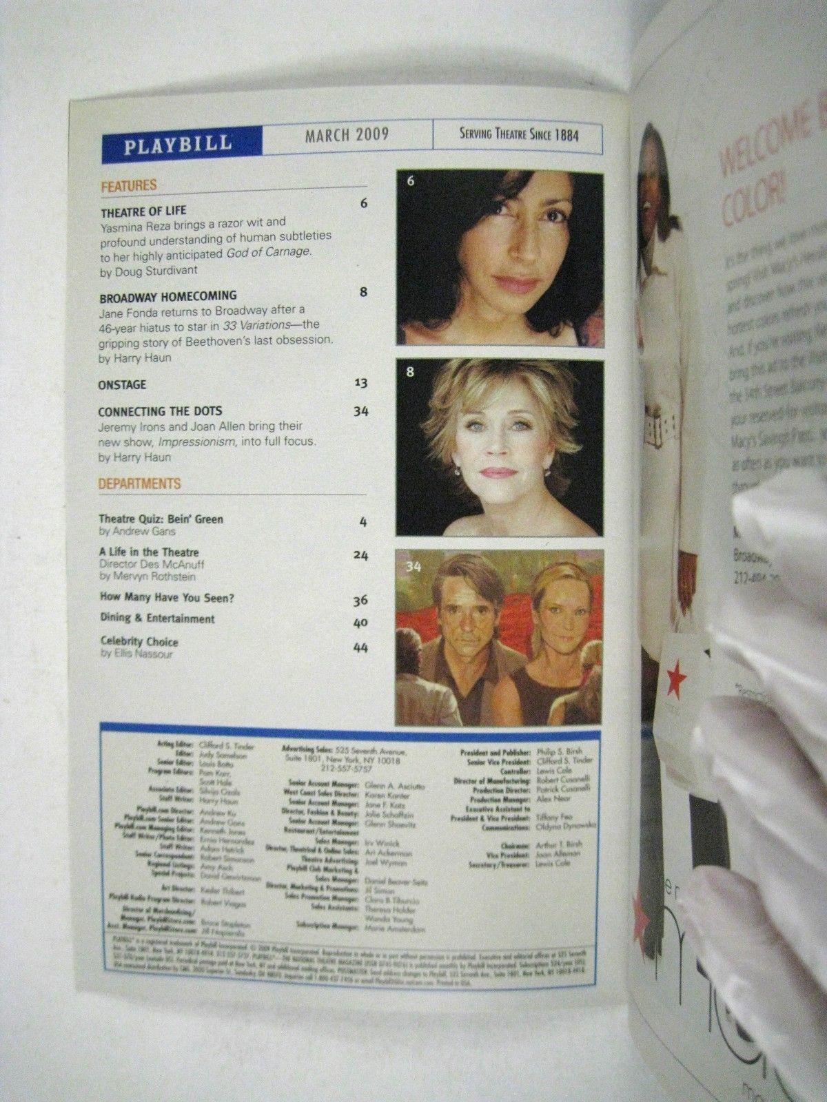 Garden of Earthly Delight Playbill 2009 Minetta Lane Theatre Todd Anderson