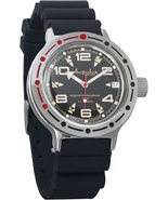 Vostok Amphibian 420335 /2416 Military Russian Diver Watch Scuba Dude Resin - $69.28