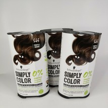 3 Schwarzkopf Simply Color Permanent Hair Color Truffle Brown 5.65 Ammonia Free - $27.60