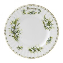 Royal Albert Sweet  JANUARY  Flower of the Month LUNCH PLATE NEW IN THE BOX - $34.64