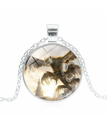 DRAGON CABOCHON NECKLACE >>    WE COMBINE SHIPPING   (1627)  - $3.71