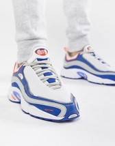 NEW $125 Mens Reebok Shoes Daytona DMX Sneakers in White Blue Move Grey ... - $59.39
