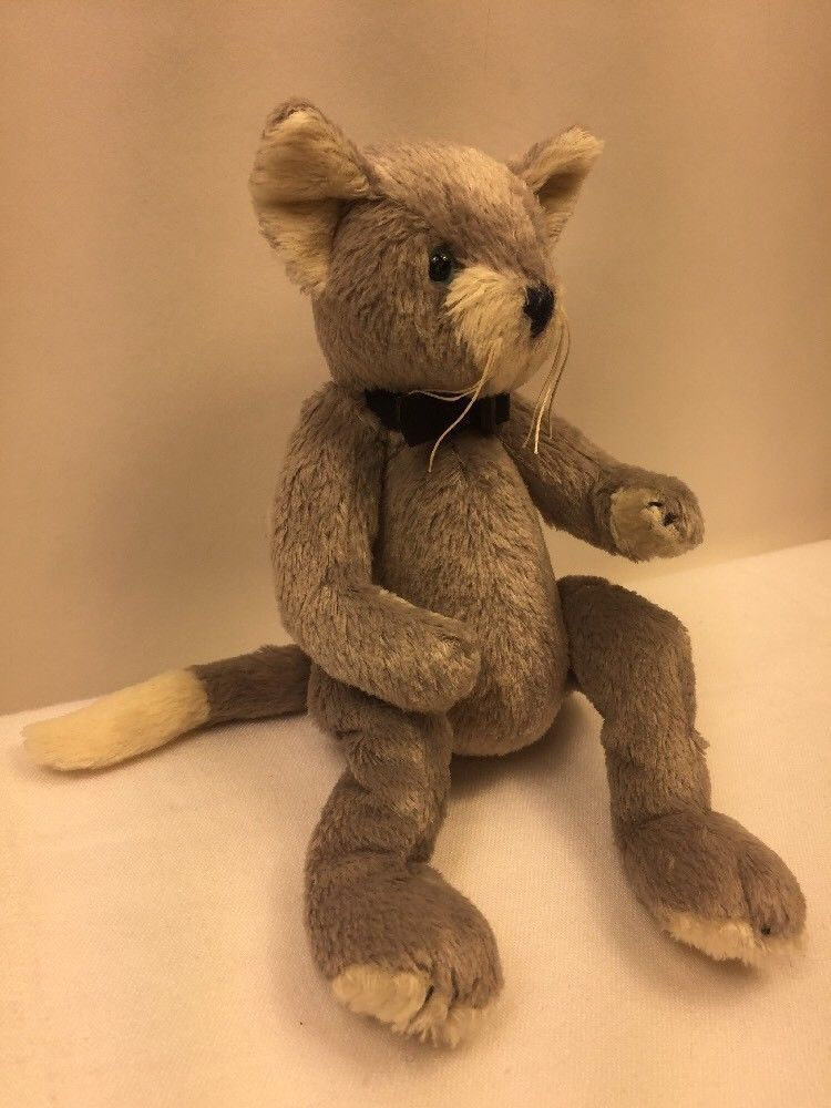 ... TY Attic Treasures Grey Cat Plush Fairchild While the Cats Away Beanie  Baby Toy ... 8d05cfd06343