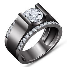 1.20 CT Round Cut Diamond Engagement Band Wedding Ring Set 10K Black Gold Finish - $81.99