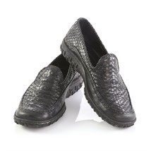 Cole Haan Country Black Leather Weave Stitched Loafers Driving Shoes Wom... - $39.51