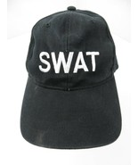 SWAT Black White Adjustable Adult Ball Cap Hat - £10.09 GBP