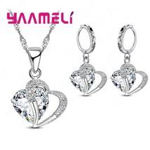 Romantic Sweet Wedding Anniversary Jewelry Set 925 Sterling Silver Penda... - $12.74