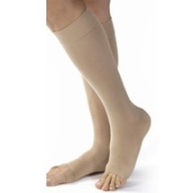 Women's Opaque 15-20 mmHg Open Toe Knee High Support Stocking Size: Medium, Colo - $38.32