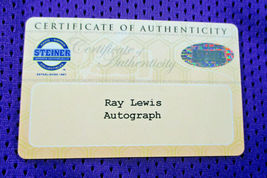 RAY LEWIS / HALL OF FAME / AUTOGRAPHED BALTIMORE RAVENS CUSTOM JERSEY / STEINER image 7