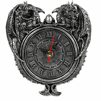 Primary image for Pacific Giftware Dragon Twins Sentinel Double Dragons Guarding Orb Wall Clock...