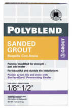Custom Polyblend  Natural Gray  Sanded Grout  7 lb. - $17.99