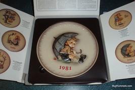 HUMMEL GOEBEL UMBRELLA BOY PLATE #274 1981 LIMITED EDITION - GREAT GIFT! - $16.97