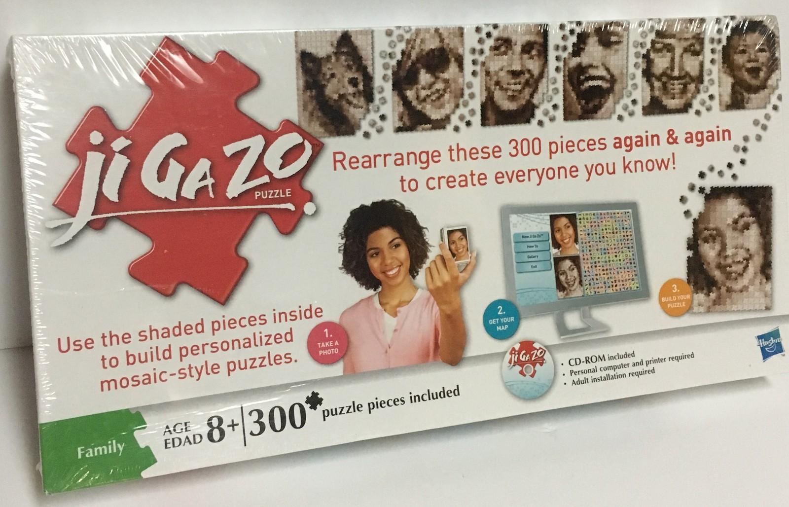 Hasbro JiGaZo Puzzle 300 Piece CD Included Age 8+ Create Mosaic Photos