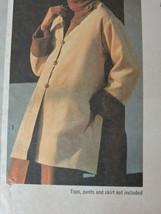 Simplicity Sewing Pattern 9112 Uncut Jiffy Reversible Jacket 1979 Vintage 18 20  image 1